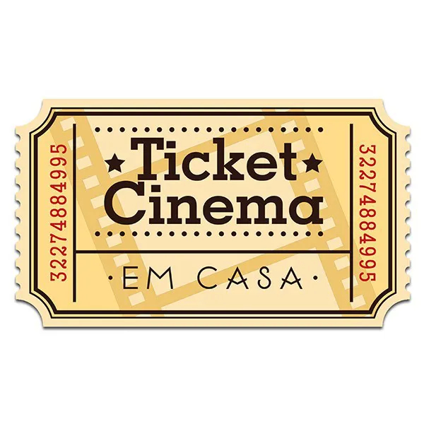 Placa de Parede Ticket Cinema