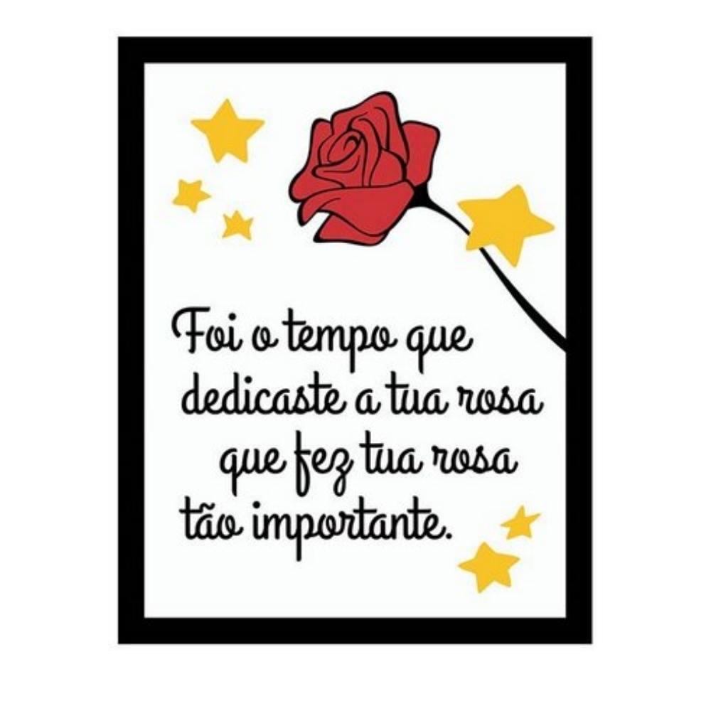 Placa Decorativa Tua Rosa