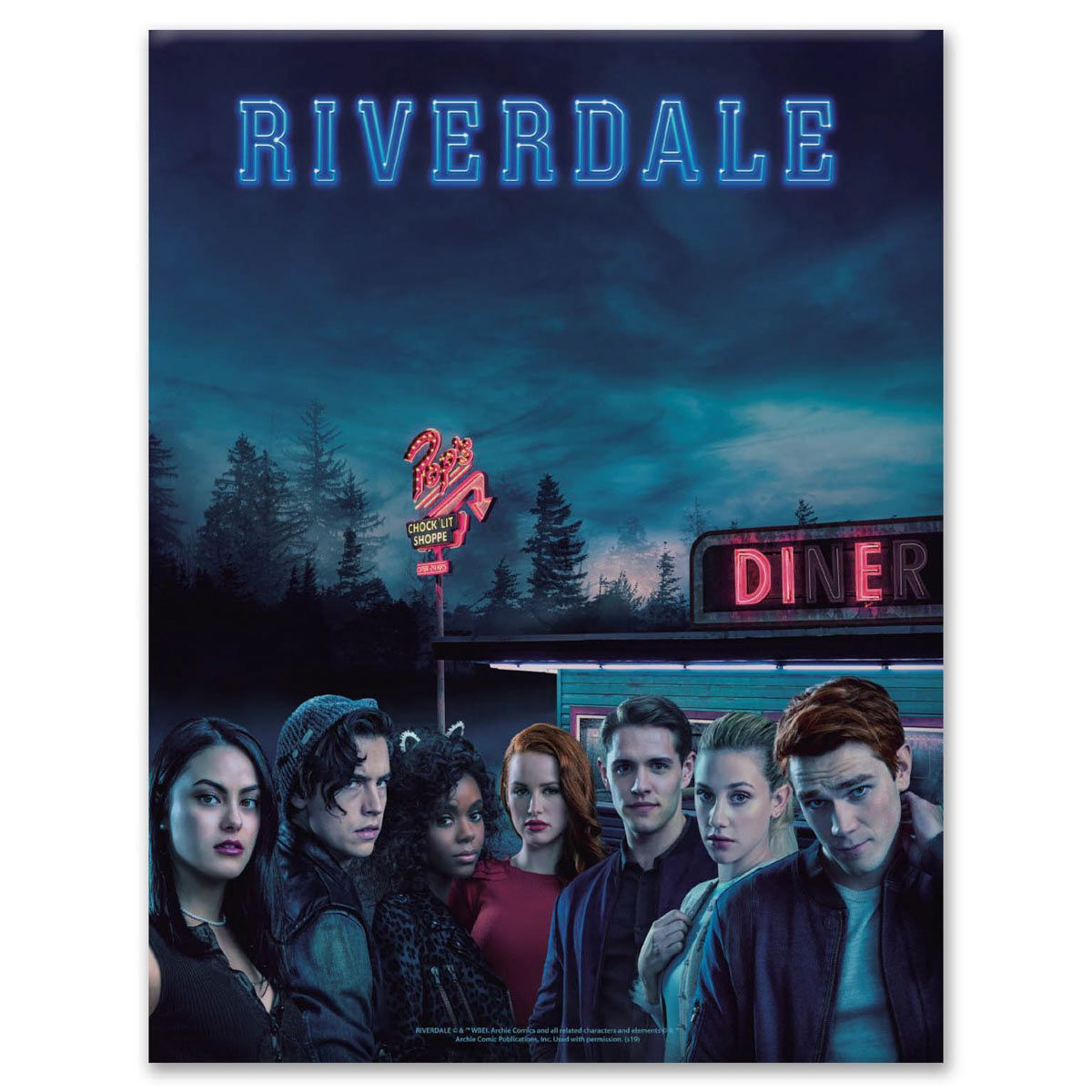Placa Metal Riverdale Personagens