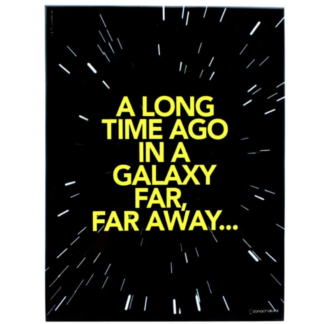 Placa Metal Star Wars - Galaxia