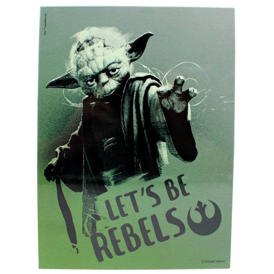 Placa Metral Mestre Yoda Star Wars