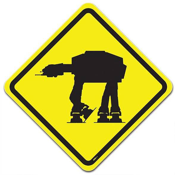 Placa Perigo Império na Pista