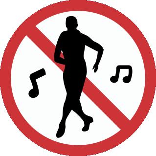 Placa Proibido Dançar