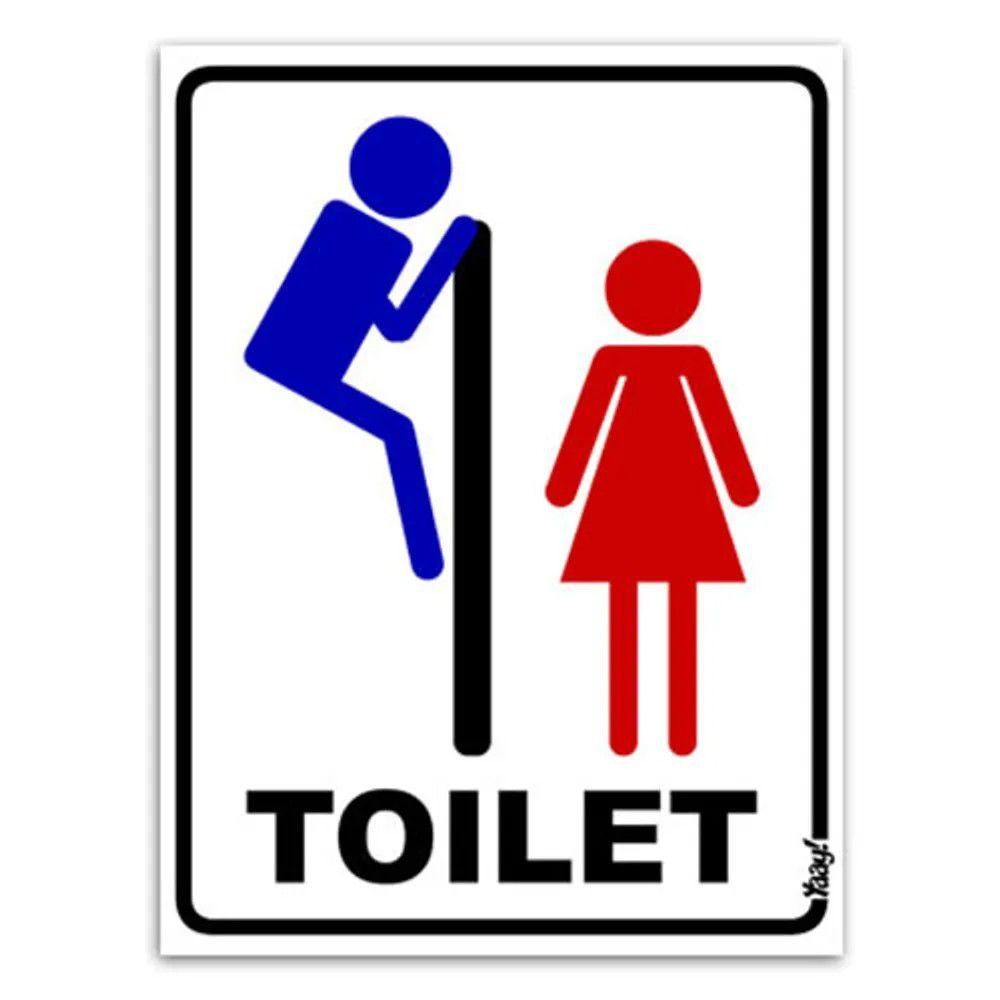 Placa Toilet Voyeur