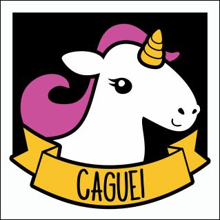 Placa Unicórnio - Caguei