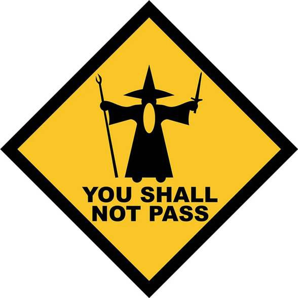 Placa You Shall Not Pass