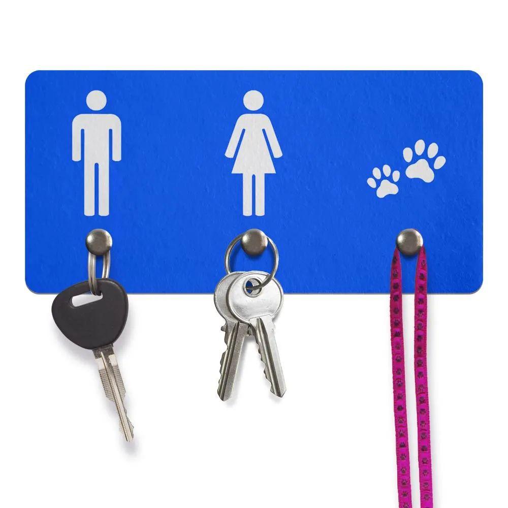 Porta Chaves Ecológico Ele Ela Pets - azul