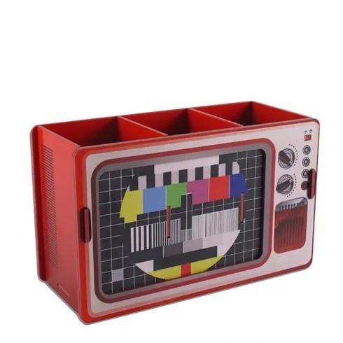 Porta Controle e Retrato TV Vintage