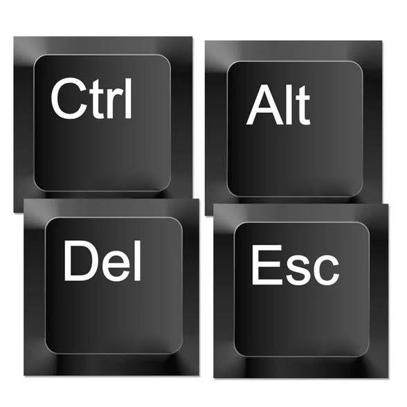 Porta Copos CTRL+ALT+DEL