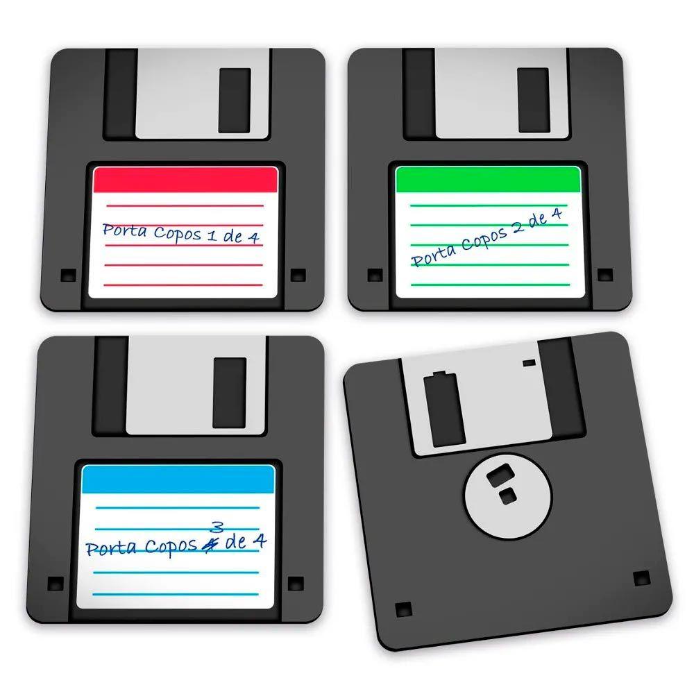 Porta Copos Disquete - Floppy Disk