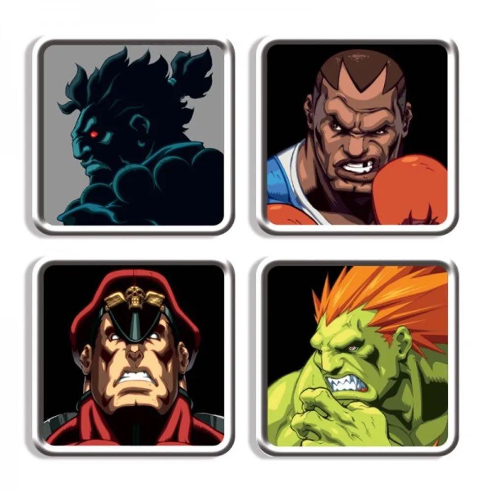Porta Copos Street Fighter Personagens C II HD Remix