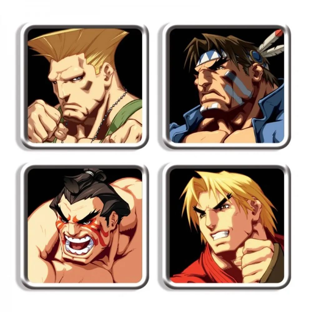 Porta Copos Street Fighter Personagens E II HD Remix