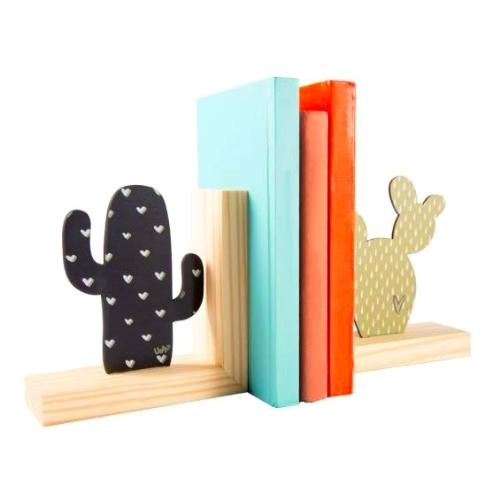 Porta Livros - Cactus Colorido