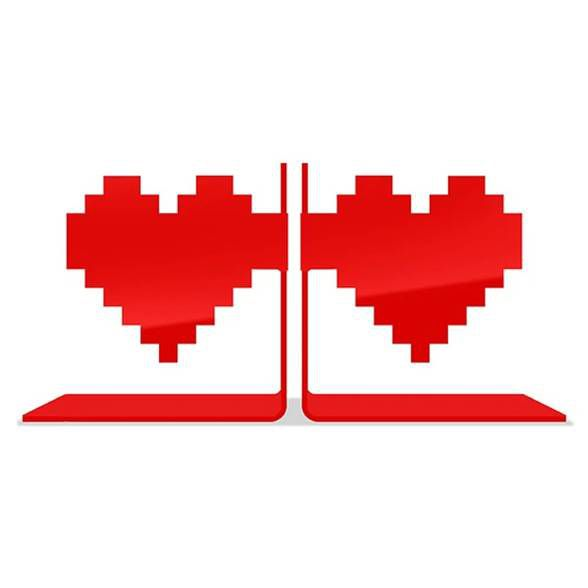 Porta Livros Coração Pixel