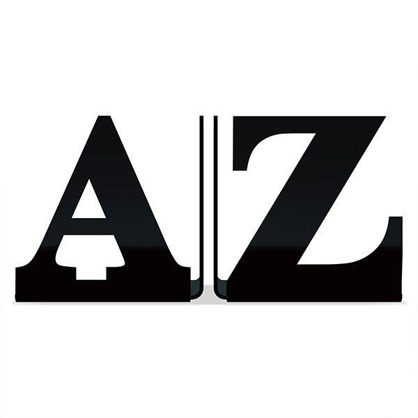 Porta Livros de A-Z - Preto