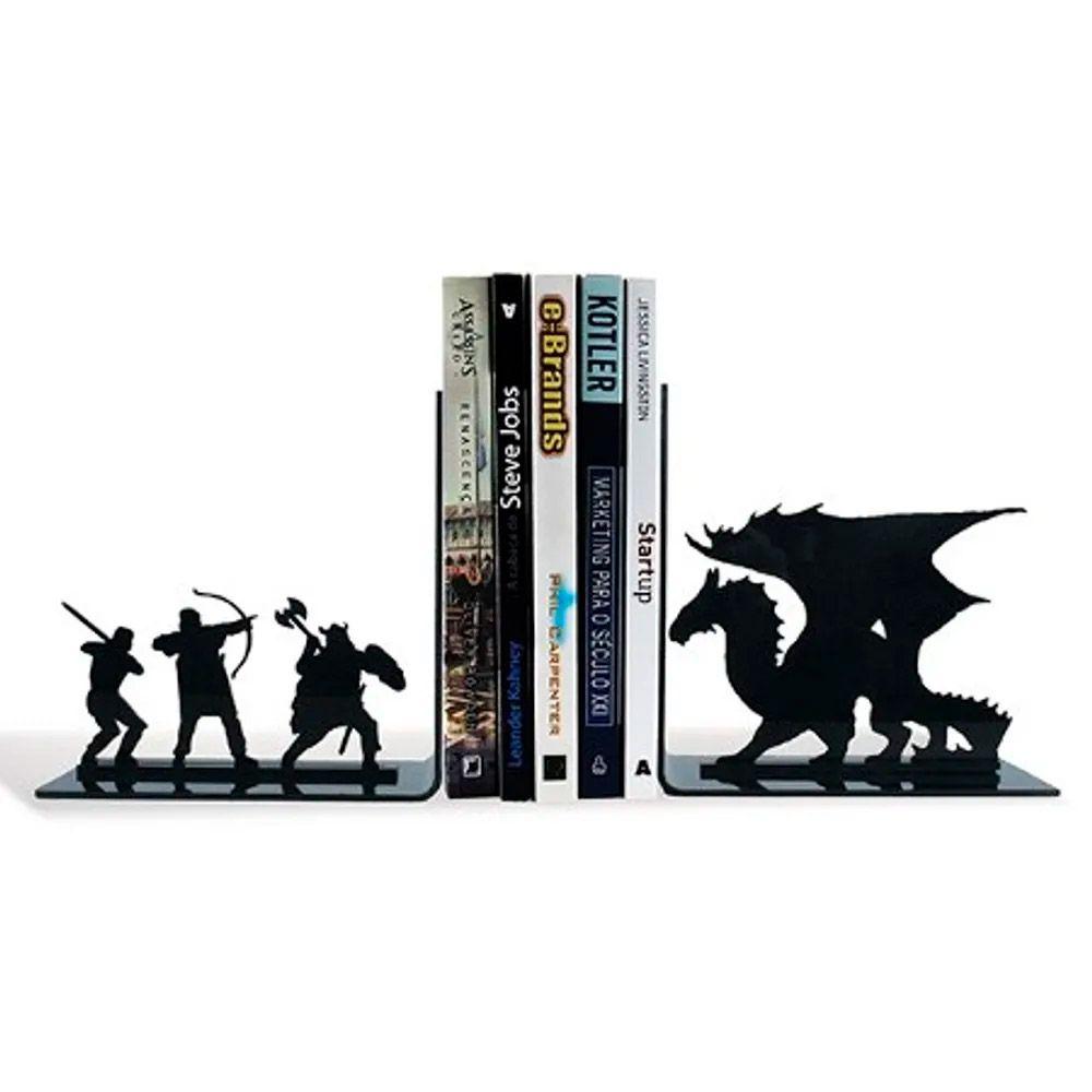 Porta Livros Dragão Medieval RPG