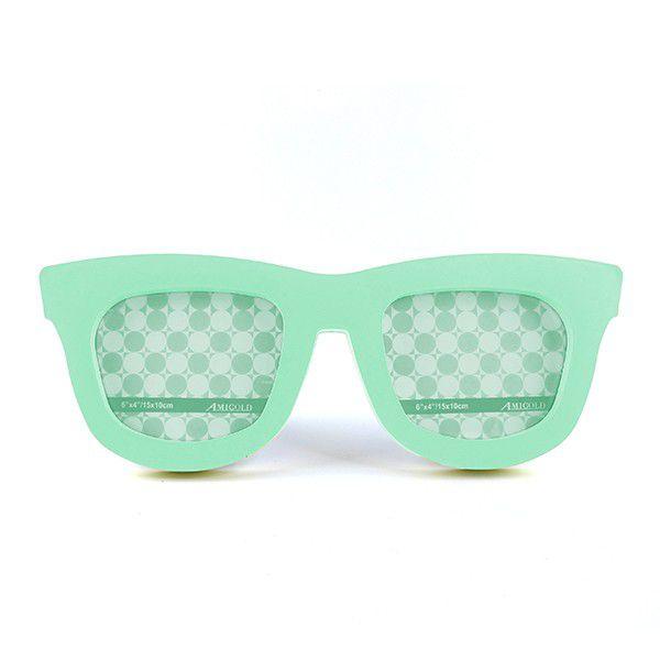 Porta Retrato Duplo Óculos - Verde