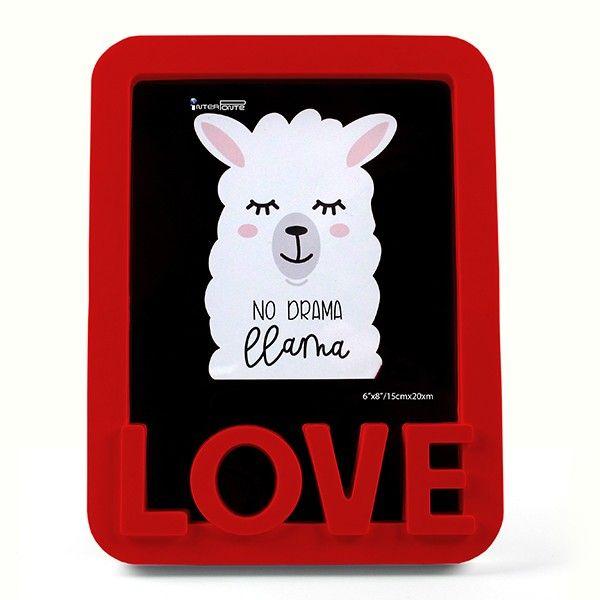 Porta Retrato Love Lhama Vermelho