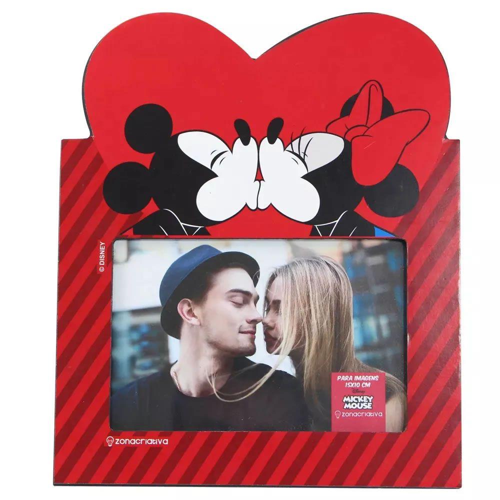 Porta Retrato Mickey e Minnie Coração