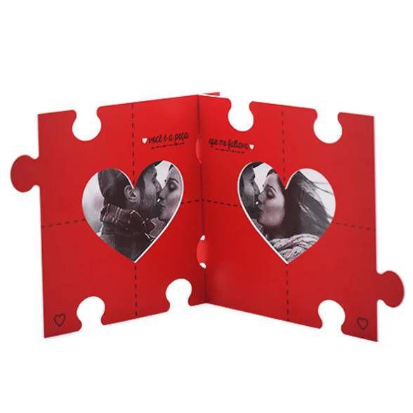 Porta Retrato Quebra Cabeça do Amor