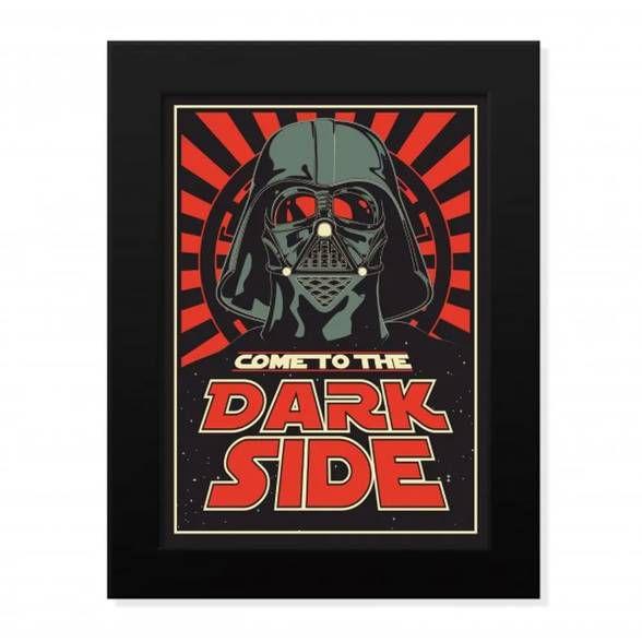 Pôster com Moldura Dark Side