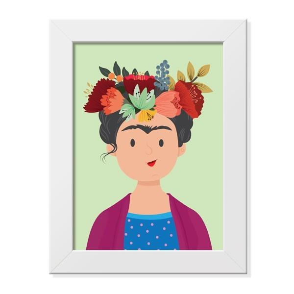 Pôster com Moldura Frida