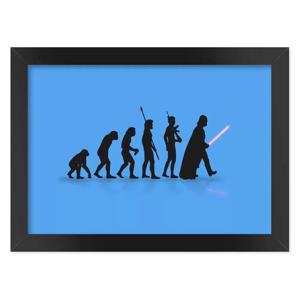 Pôster com Moldura Geek Evolution - azul