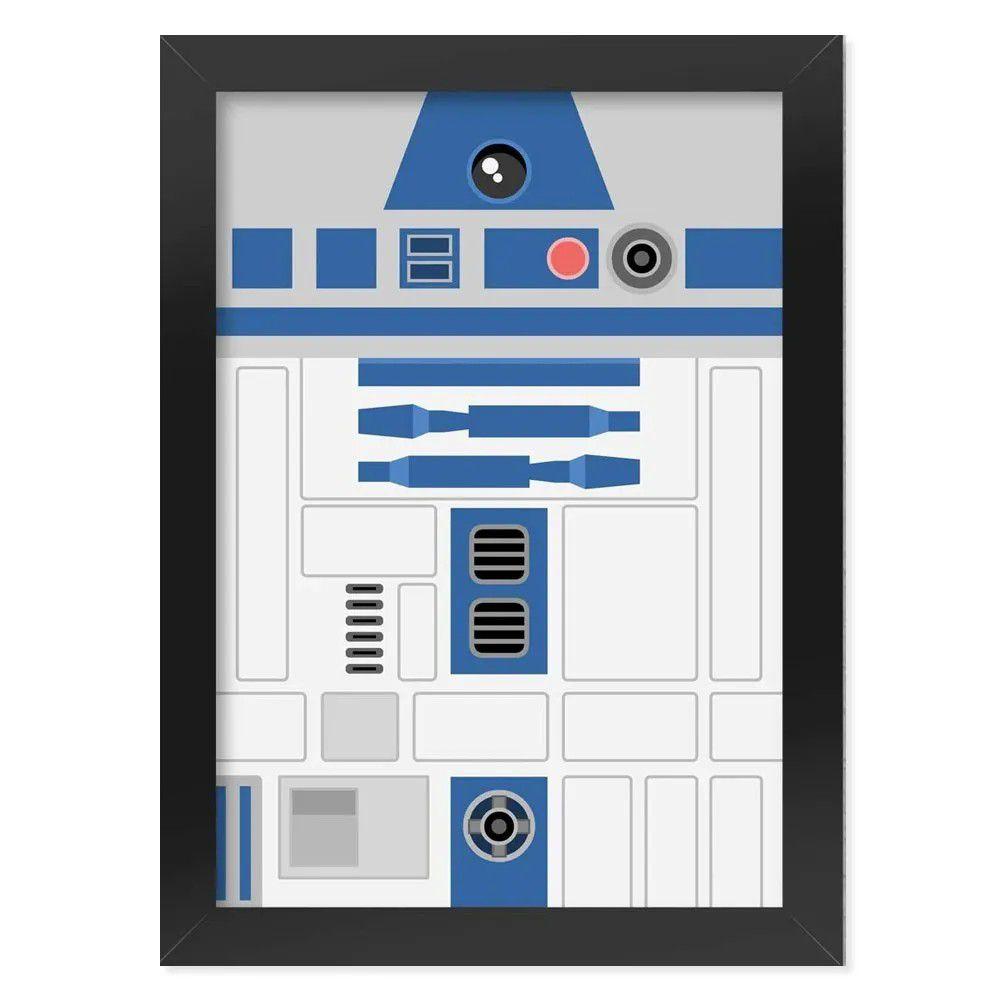Pôster com Moldura Geek Side Faces - R2