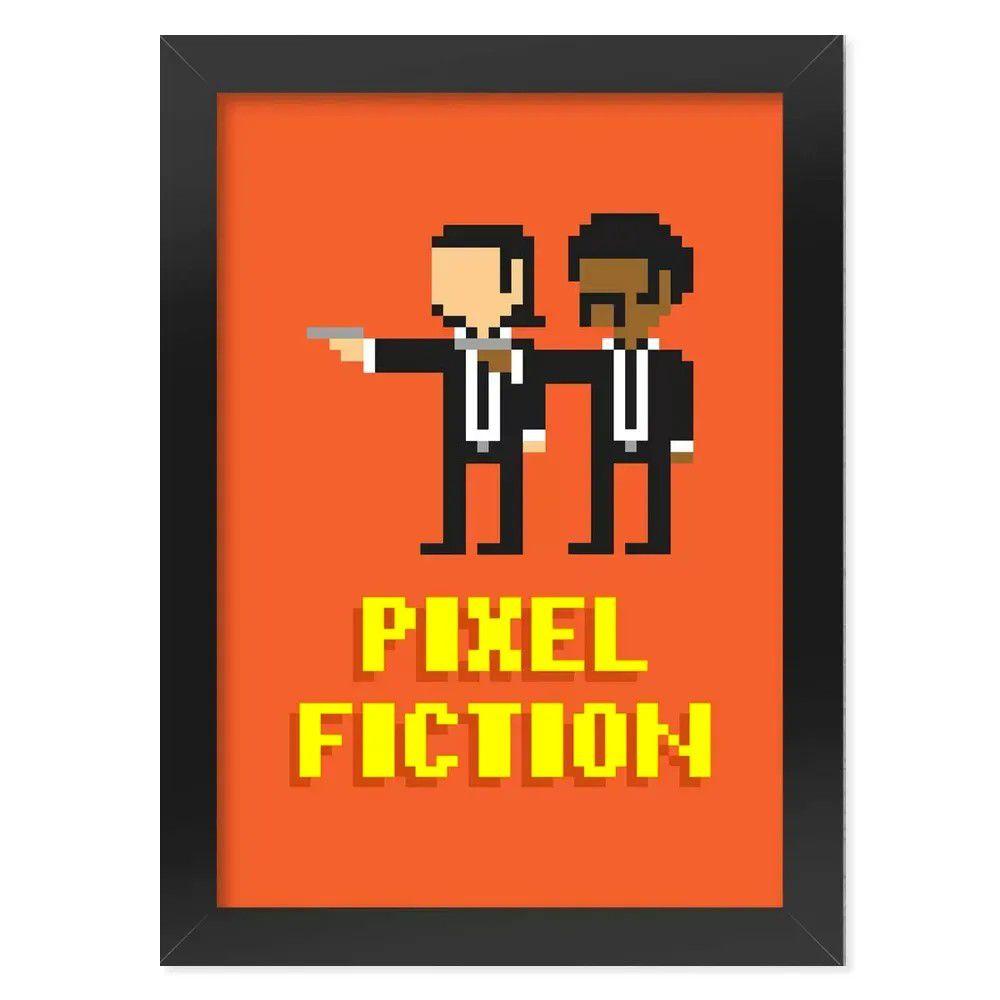 Pôster com Moldura Pixel Fiction