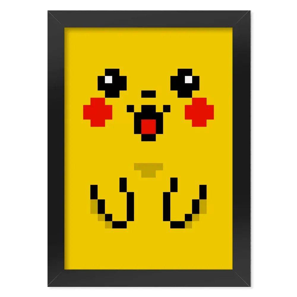 Pôster com Moldura Pixelchu