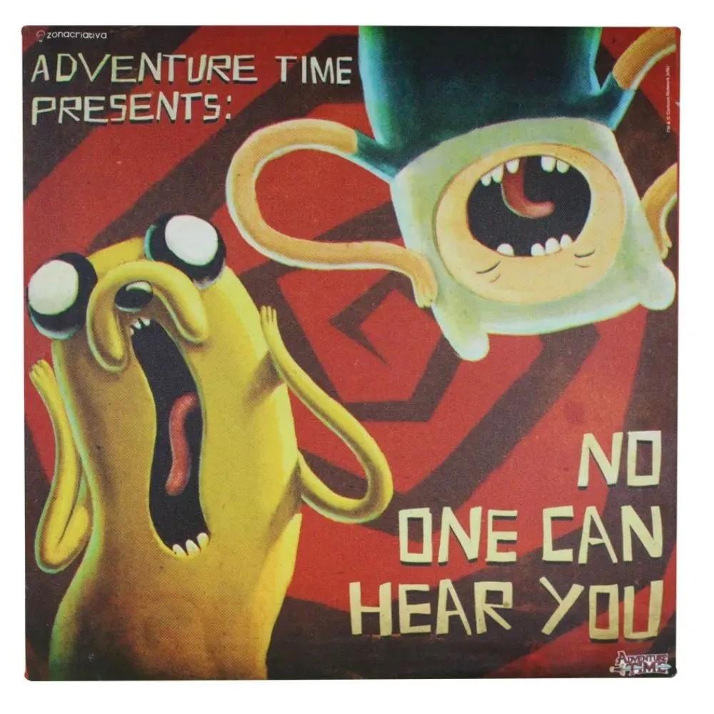 Quadro Hora de Aventura - Finn e Jake Ninguem Pode Te Ouvir