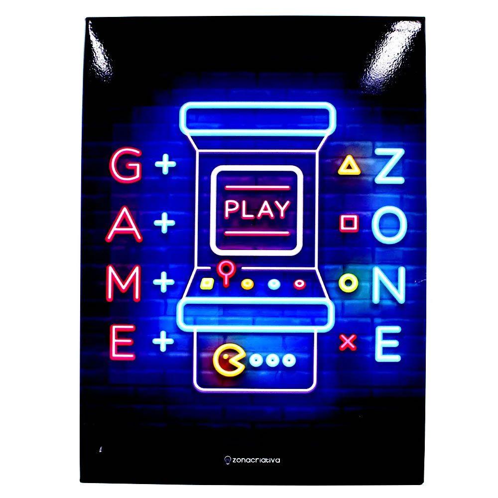 Quadro em metal Game Zone