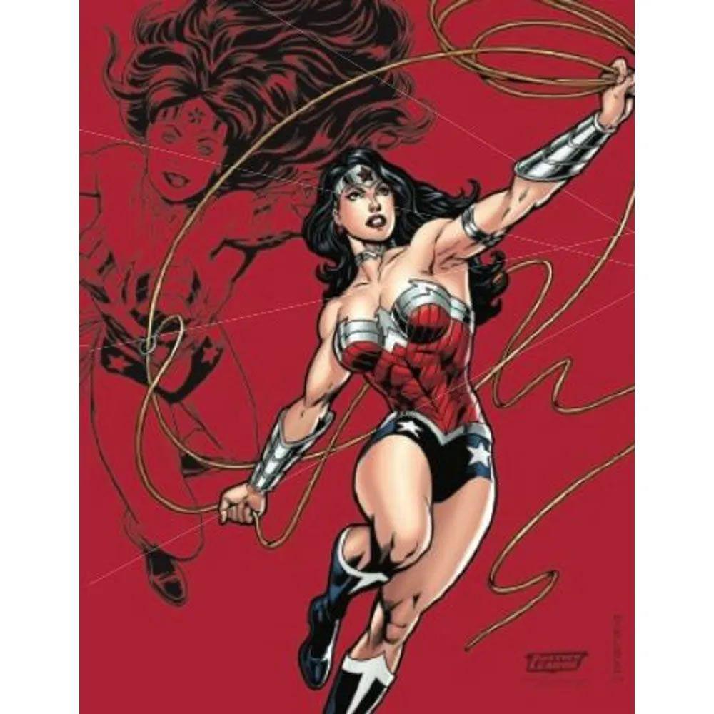 Quadro em Metal Liga da Justiça Mulher Maravilha