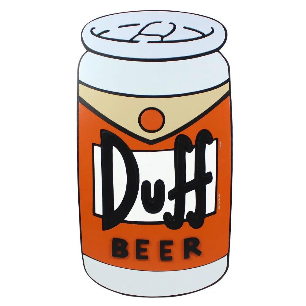 Quadrado Mda formato lata Duff beer