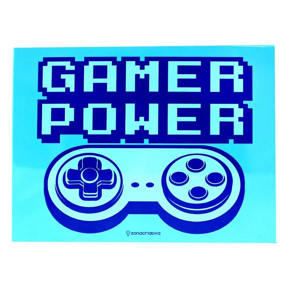 QUADRO METAL POWER GAME BLUE
