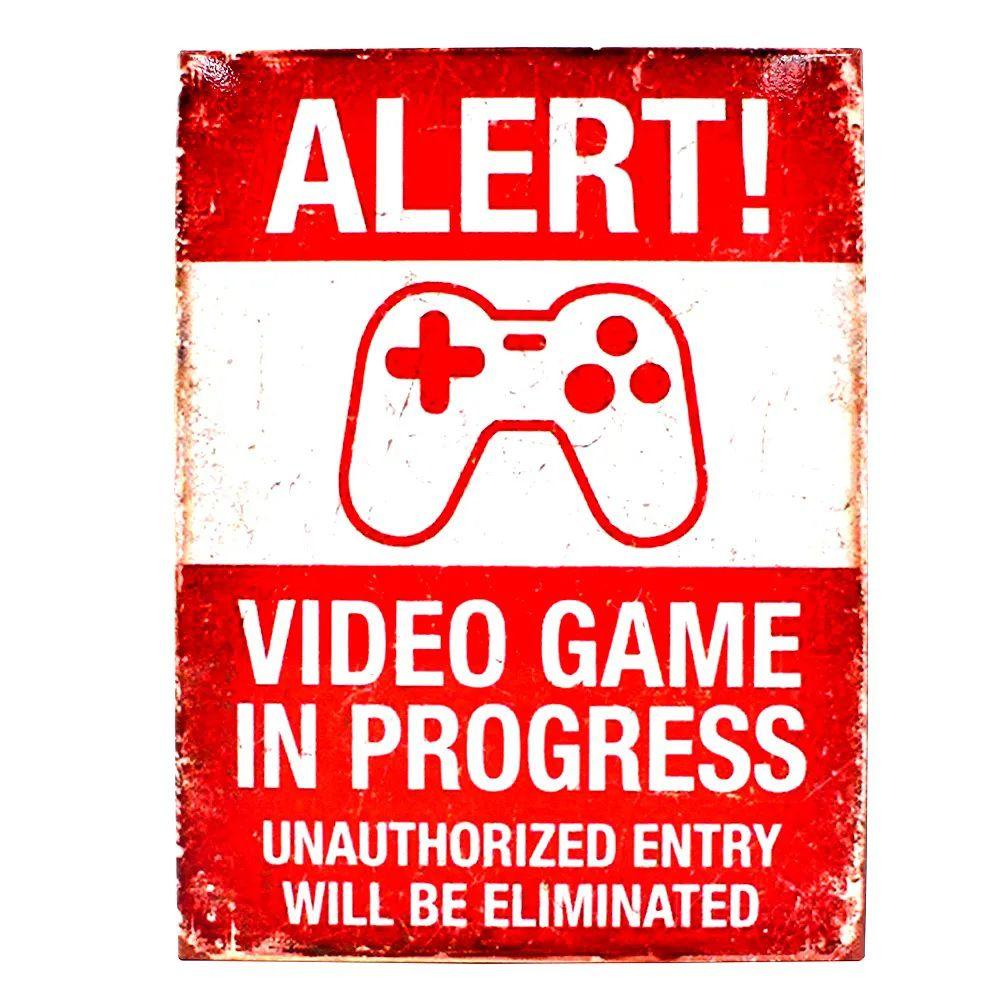 Quadro Metal Alert Video Game