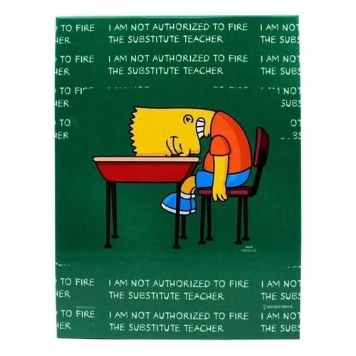 QUADRO METAL Os Simpsons - BART LOUSA