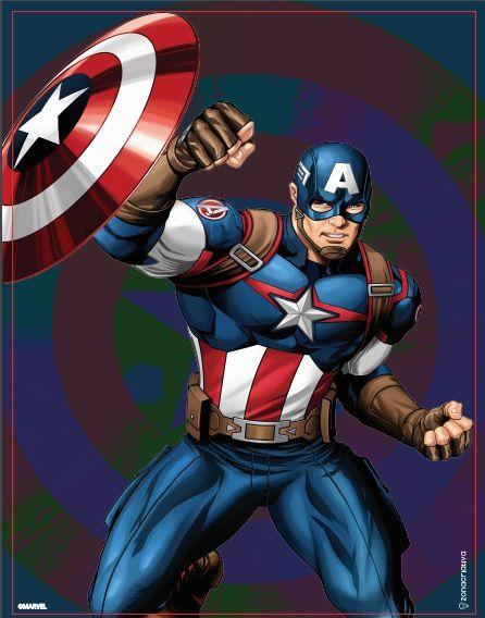 Quadro Metal Capitão América Avengers