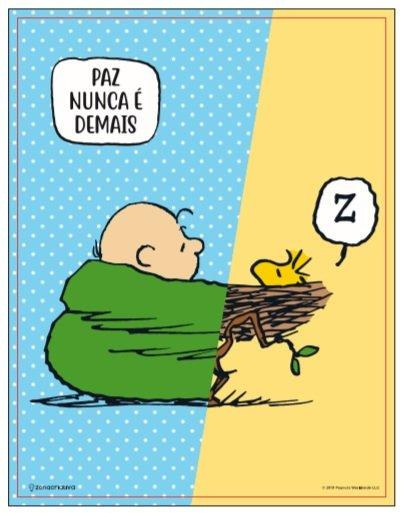 Quadro Metal Charlie Snoopy