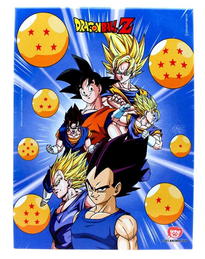 Quadro Metal Esferas Dragon Ball