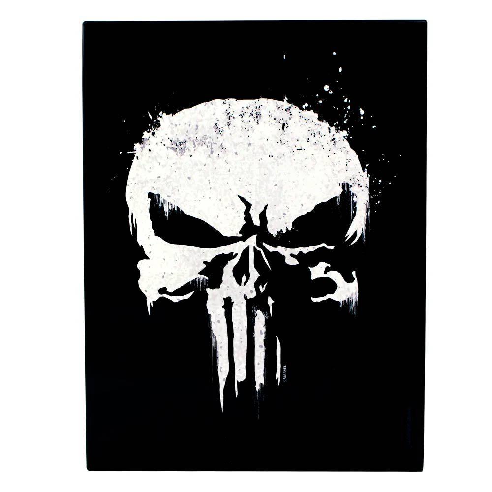 Quadro Metal Justiceiro Logo