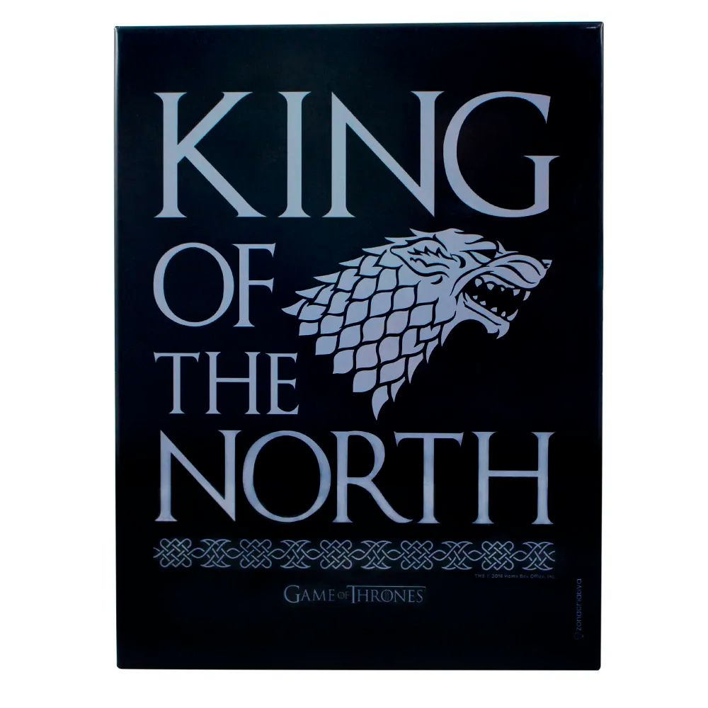 Quadro Metal King of The North Starks Game of Thrones