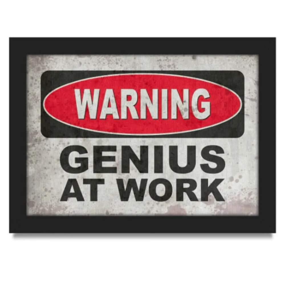 Quadro Warning Genius at Work