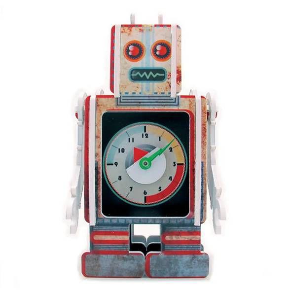 Relógio de Mesa Robot