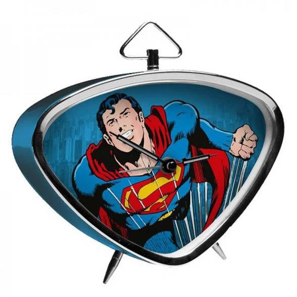 Relógio de Mesa Superman Flying Azul