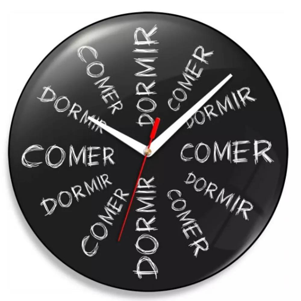 Relógio de Parede Comer e Dormir