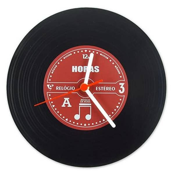 Relógio de Parede Disco de Vinil