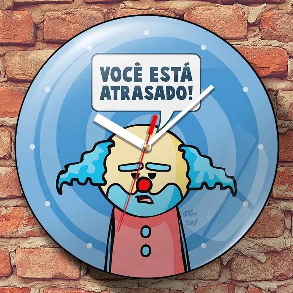 Relógio de Parede DrPepper Paiaço Você Está Atrasado