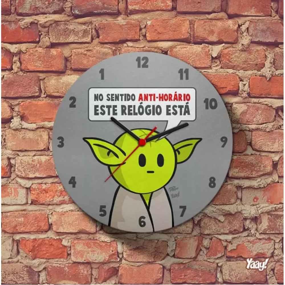 Relógio de Parede Ecológico DrPepper Mestre MiniOda