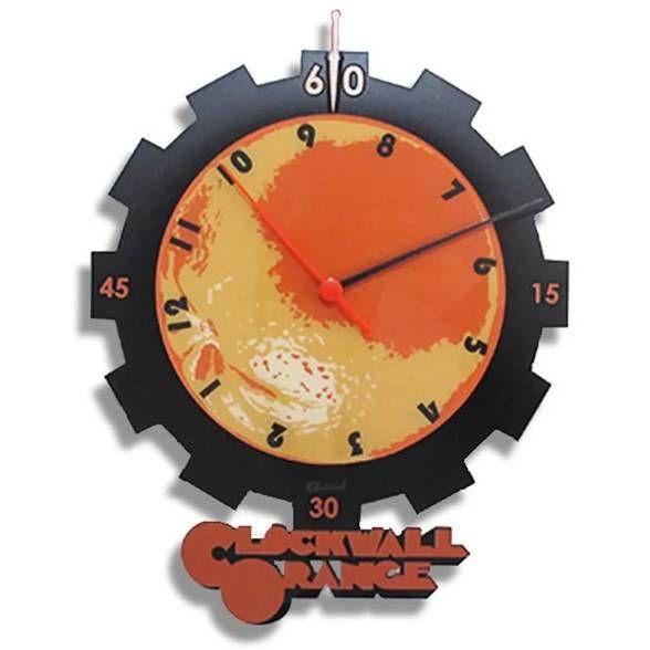 Relógio de Parede Laranja Clock